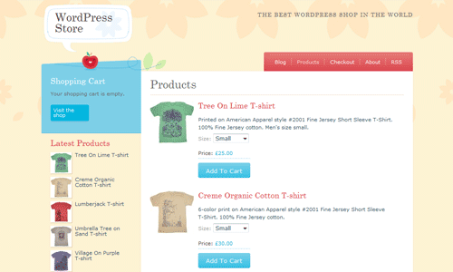 Crafty cart 6 Free WordPress Shoping Cart Themes