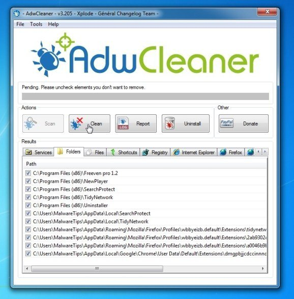 AdwCleaner-Temizleme