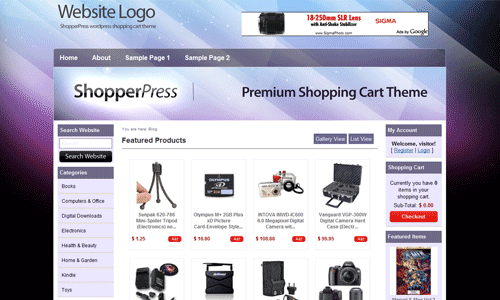 shopper press 6 Free WordPress Shoping Cart Themes